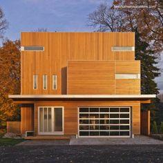 Contemporary wooden residential house - Arquitectura de Casas: Información sobre las casas construidas con madera.