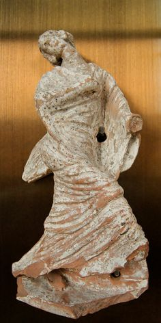 Wounded Niobid Louvre Cp5224. Wounded Niobid. Terracotta figurine of Gnathia or Canosa, 4th–3rd centuries BC