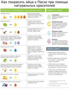 Как покрасить яйца к Пасхе с помощью натуральных красителей