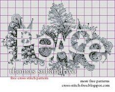 peace free pattern on International Cross Stitch