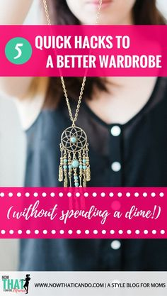 Moms! How to improve your wardrobe and get rid of the frump without spending any money! Love this blog! Shows you how to have stylish clothes and outfits on a family budget. The tips in this post show you how to declutter and clean your existing wardrobe while maximizing what's in there to get more out of what you own. So smart! Just what I needed!