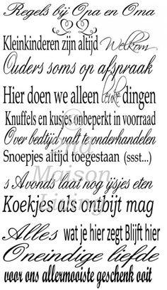 1000 Images About Muurteksten On Pinterest Om