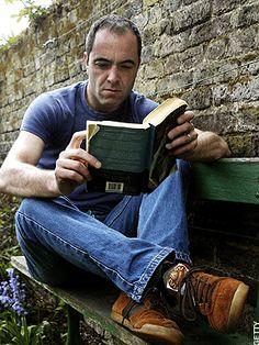 James Nesbitt and a book - heavenly