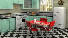 RETRO KITCHEN IDEAS – Retro kitchen means a refreshed kitchen that combines vintage kitchen elements and modern aspects. The retro kitchen becomes a c.