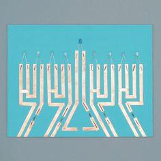 Paper Circuit Menorah