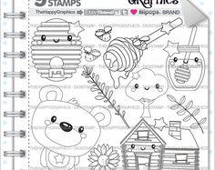 80% di sconto - orso Stamp, uso commerciale, Digi Stamp, immagine digitale, Digistamp Bear, orso da colorare pagina, grafico Orso, animale, Teddy