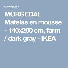 MORGEDAL Matelas en mousse - 140x200 cm, farm / dark gray - IKEA
