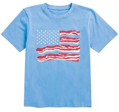 From CWDkids: Bacon Flag Tee.