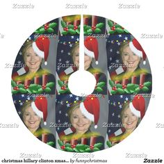 christmas hillary clinton xmas tree skirt