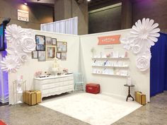 Tartine Paperie trade show booth - letterpress wedding invitations