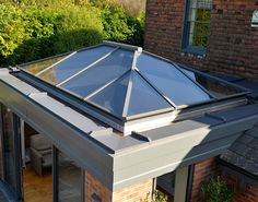 A premium quality slimline thermally broken aluminium roof lantern to bring light into an extension, new build or a garden room