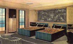 Paul Iribe - Illustration 'Le Normandie' - La Chambre d'un Appartement de Luxe - 1935