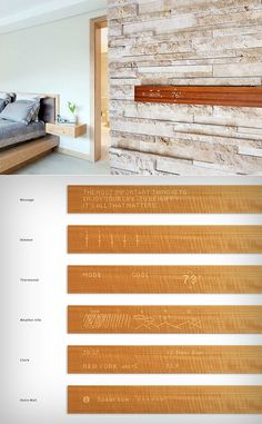 Mui LED Display- Mui Looks Like a Slab of Wood, But at the Push of a Button, it Becomes an LED Display Wood Slab, Led, Smart Home, Innovation, Display, Technology, Button, Home Decor, Printing