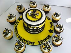 Yellow Jackets Cake And Cupcakes on Cake Central