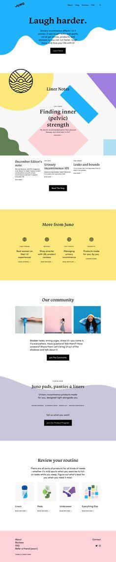 Juno website design by Meg Lewis Website Layout, Web Layout, Ppt Design, Graphic Design, Blog Design, Minimal Web Design, Web Design Trends, Kids Branding, Web Design Inspiration