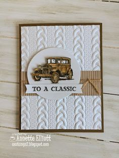 Peek: Cable Knit Dynamic Embossing Folder AEstamps a Latte.: Sneak Peek: Cable Knit Dynamic Embossing FolderAEstamps a Latte. Masculine Birthday Cards, Birthday Cards For Men, Masculine Cards, Tarjetas Stampin Up, Stampin Up Cards, Fall Cards, Christmas Cards, Boy Cards, Men's Cards