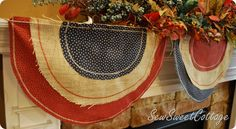 Consider hanging Fourth of July bunting on the nails which you hang your Christmas stockings on...