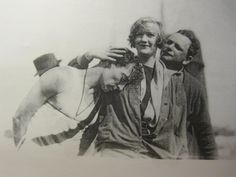 Buster on the set of College with sister-in-law Constance Talmadge and friend Buster Collier