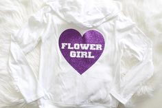 Flower girl Clothing White zip up Jacket with Purple Wedding Flower Purple Wedding Flowers, Girl Clothing, Spring Wedding, Girl Outfits, Graphic Sweatshirt, Trending Outfits, Sweatshirts, Jackets, Sweatshirt