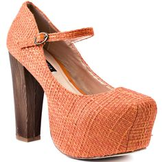 Be different, Be trans-formative , Be audacious with this orange chunky heel with a retro vibe. Unleash your free spirit.