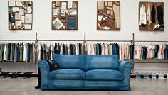 denim sofa - Google Search