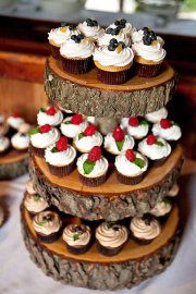 Rustic party, bbq etc ? What a great way to display cupcakes or maybe appetizers...