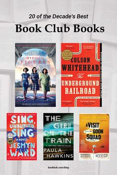 20 of the best book club books to read with your group. #books #bookclub #bookclubbooks