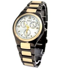 FW816GA Gold Tone Dial Gunmetal Band Round Gunmetal Tone Watchcase Fashion Watch