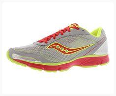Saucony Women's Outduel Running Shoe,Grey/Red,12 M US (*Partner Link)