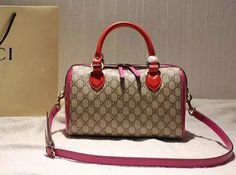 1c0fd278d5d9 Gucci Small Blooms GG Supreme Top Handle Bag Red Rosy Fall 2015 Gucci Tote  Bag
