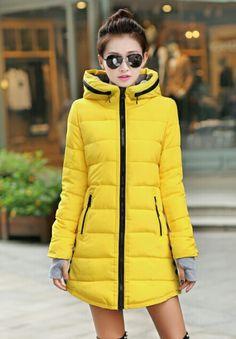 New women's winter jacket down cotton jacket slim parkas ladies coat plus size XS-XXL