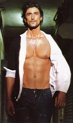 Sexy Bollywood actor Kunal Kapoor, showing off some very nice abs. #shirtless