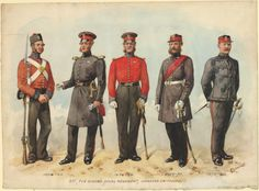 2nd, the Queen's Royal Regiment, undress uniforms
