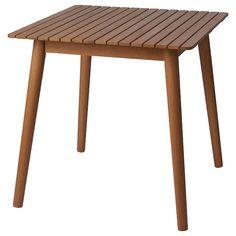 HATTHOLMEN eucalyptus, light oak, Table, outdoor - IKEA Ikea Garden Furniture, Outdoor Furniture, Wooden Garden Table, Outdoor Tables, Outdoor Decor, Eucalyptus, Under The Table, Light Oak, Extendable Dining Table