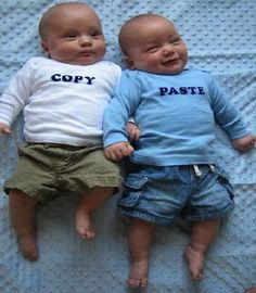 I want someone I know to have twins just so I can make these shirts for them...