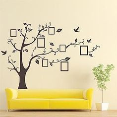 Family Tree Photo Gallery Wall Sticker - Decorate with Your Family Moments!