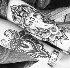 These would be gorgeous on shins! Old Tattoos, Badass Tattoos, Sleeve Tattoos, Body Art Tattoos, Girl Tattoos, Tattoos For Women, Buddha Tattoos, Buddhism Tattoo, Shin Tattoo