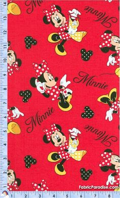 Minnie Mouse Loves Shopping Toss - People, Characters, Elkabee's Fabric Paradise.com, LLC