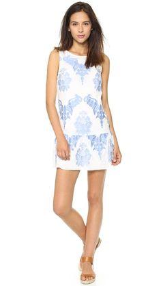 Twelfth St. by Cynthia Vincent Drop Waist Mini Dress