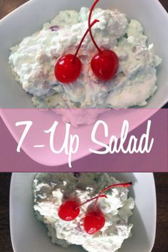 Retro Salad with lime jello, marshmallows, and cream cheese. A family tradition for the holidays! An old school lime jello recipe that never gets old! Fluff Desserts, Green Desserts, Jello Desserts, Dessert Salads, Just Desserts, Delicious Desserts, Yummy Treats, Health Desserts, Cold Desserts