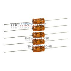 Non-Polarized Electrolytic Audio Capacitor 4.7MFD 4.7uF 8mm x 16mm 100V (5/pack) #TheWiresZone