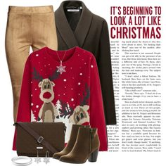 It's beginning to look a lot like Christmas by pulunen on Polyvore featuring Uniqlo, Reneeze, Vera Bradley, Ippolita, Amanda Rose Collection, Sixtrees, Christmas and christmassweater