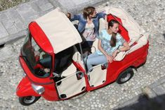 Piaggio Ape, Baby Strollers, Electric, Children, Cars, Deep Blue Sea, Ice Cream Van, Vehicles, Colors