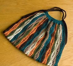 has a feel of early summer. crochet bag - made by fiona