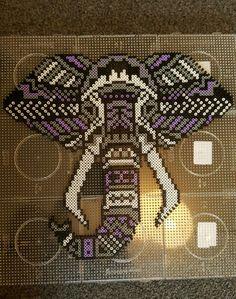 Tribal elephant hamabead design