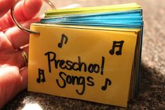 Preschoool Songbook Printable. 45 children's songs to print out and put together your own little book.