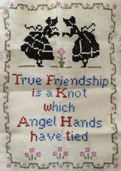 Counted cross stitch, vintage.