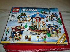 LEGO 10235 CREATOR EXPERT WINTER VILLAGE MARKET HOLIDAY SEASONAL *RETIRED* Lego Christmas Village, Lego Winter Village, Lego Santa's Workshop, Santas Workshop, Lego Creator, The Creator, Lego Sculptures, Christmas Snow Globes, Buy Lego
