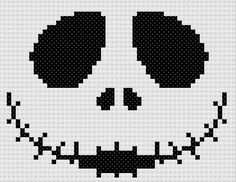Free Pattern Friday: Jack Skellington. This is a Cross Stitch Pattern...but Try and put it in a crochet Filet pattern.