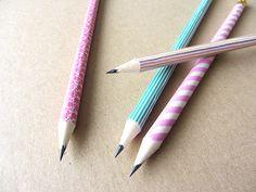 washi pencils tutorial